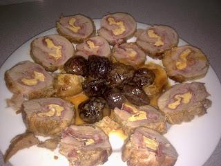 Solomillo de cerdo ibérico relleno de jamón y tortilla