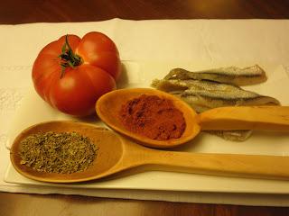 Ensalada de Tomates y Boquerones Frescos.