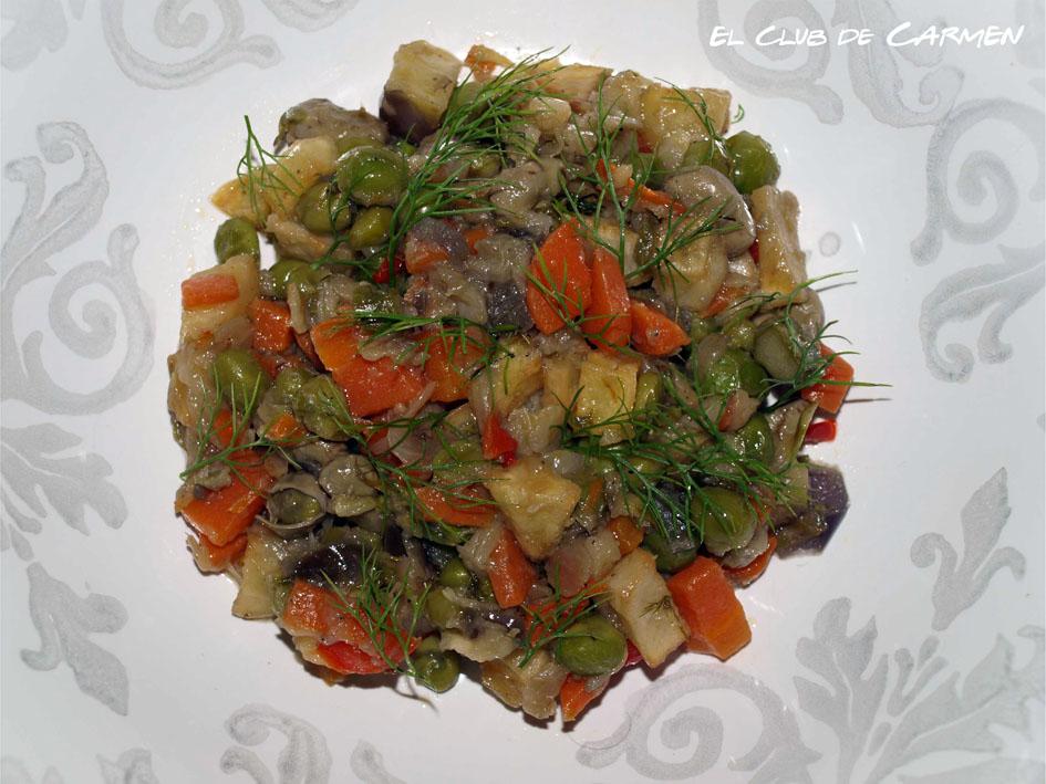 Frito de verduras mallorquín